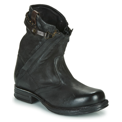 Shoes Women Mid boots Airstep / A.S.98 SAINT METAL ZIP Black