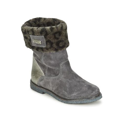 Shoes Girl Mid boots Le Temps des Cerises JUNIOR EVA Grey