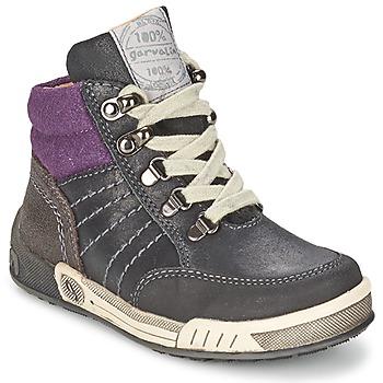 Shoes Boy Hi top trainers Garvalin TOMAS Grey / Purple