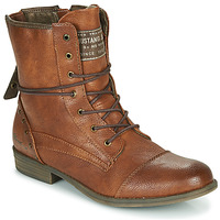 Shoes Women Mid boots Mustang YOANA Cognac