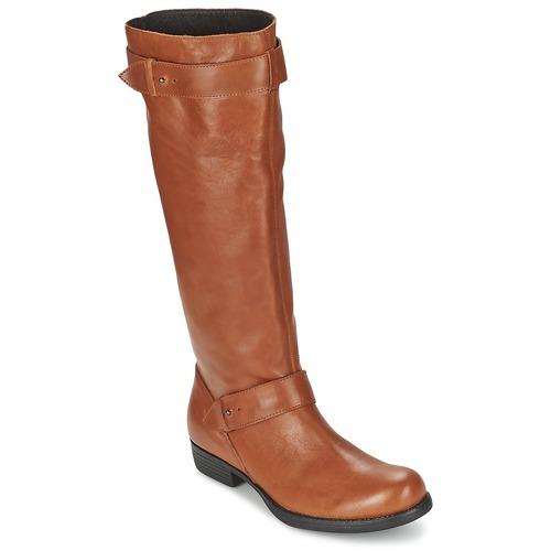 Shoes Women High boots One Step IANNI Caramel
