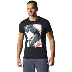 Clothing Men short-sleeved t-shirts adidas Originals Workout Girl Black
