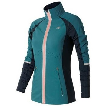 Clothing Women Track tops New Balance Precision Run Jacket Blue-Navy blue-Pink