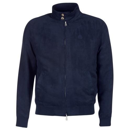 Clothing Men Leather jackets / Imitation leather Serge Blanco FIDENZA Marine