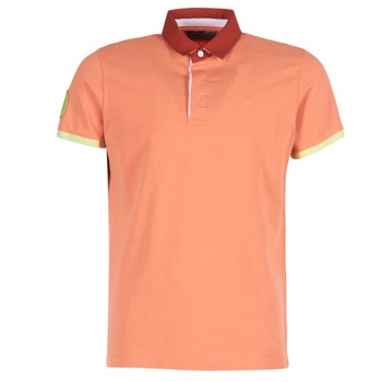 Clothing Men short-sleeved polo shirts Serge Blanco PRC1256 Coral