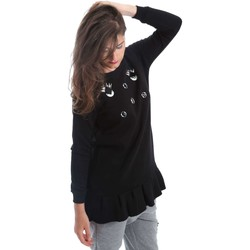 Clothing Women jumpers Y Not? Y17AI078 Sweatshirt Women Black Black