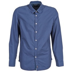 Clothing Men long-sleeved shirts Marc O'Polo CELSUS Blue / MARINE / Red
