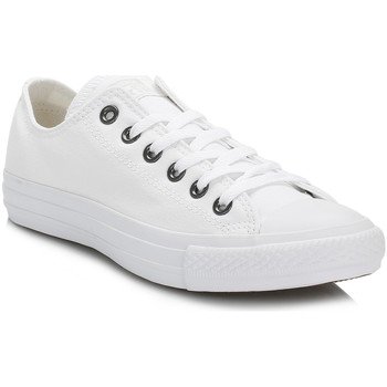 Converse  Chuck Taylor All Star White Mono Ox Trainers  womens Shoes (Trainers) in multicolour