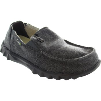 Shoes Men Loafers Hey Dude farty chalet men's grey felt faux fur lined slip on woolen loaf Grey felt