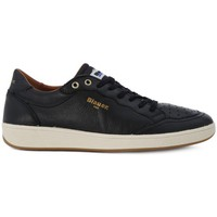 Shoes Men Trainers Blauer SNEAKER LEATHER Nero