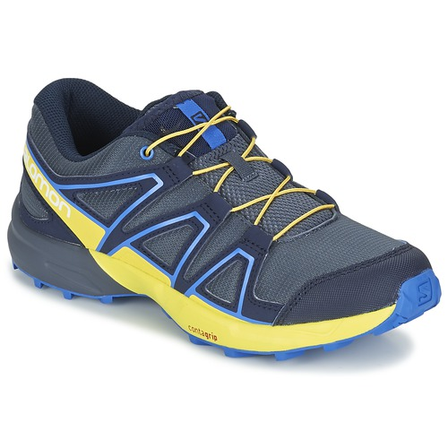 Shoes Children Multisport shoes Salomon SPEEDCROSS J Shaded / BLUE / Sulphur / Spring / Nautical / BLUE