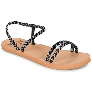 Shoes Women Flip flops Roxy LUANA J SNDL BLK Black