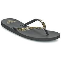 Shoes Women Flip flops Roxy BERMUDA MOLDED J SNDL BLK Black / Gold