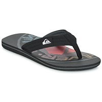 Shoes Men Flip flops Quiksilver MOLOKAI LAYBACK Black / Red