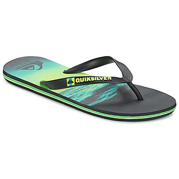 Shoes Men Flip flops Quiksilver MOLOKAIHOLDDOWN Black / Green