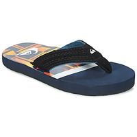 Shoes Children Flip flops Quiksilver BASIS-YT B SNDL XBWN Black / Blue / Orange