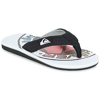 Shoes Children Flip flops Quiksilver MOLOKAI LAYBACK Black / White / Red