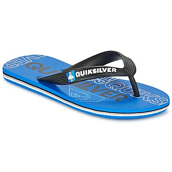 Shoes Children Flip flops Quiksilver MOLOKAI NITROYT Black / Blue
