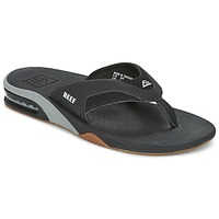Shoes Men Flip flops Reef FANNING Black / Silver