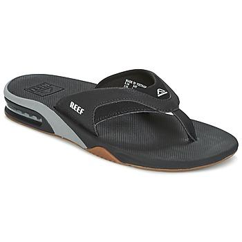 Shoes Men Flip flops Reef FANNING Black / Silver