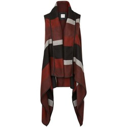 Clothing Women Jackets / Cardigans Vero Moda - Womens Doris Stripe Ethnic Waistcoat Brown