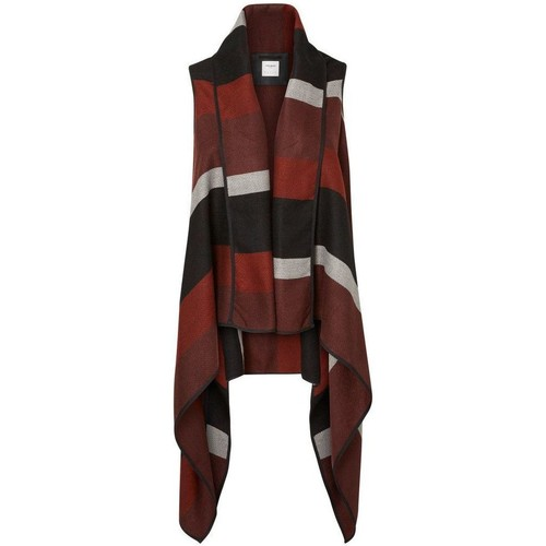 Clothing Women Jackets / Cardigans Vero Moda - Womens Doris Stripe Ethnic Waistcoat Brown