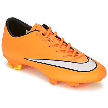 Shoes Men Football shoes Nike MERCURIAL VICTORY V FG Orange / White