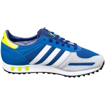Shoes Men Low top trainers adidas Originals LA Trainer White-Grey-Blue