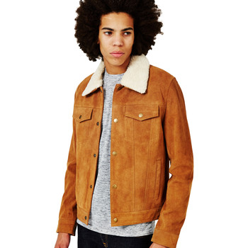 Clothing Men Leather jackets / Imitation leather The Idle Man Suede Western with Detachable Collar Tan