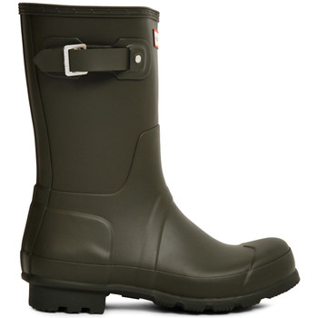 Shoes Men Wellington boots Hunter Original Short Rain Boot Green