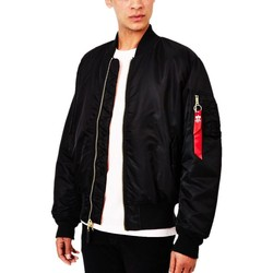 Clothing Men Jackets Alpha Industries Classic MA1 Vintage Fit Bomber Jacket Black Black