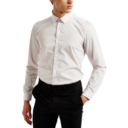Clothing Men long-sleeved shirts The Idle Man Smart Shirt in Light Pink pink
