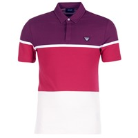 Clothing Men short-sleeved polo shirts Armani jeans MARAFOTA Purple / Red / White