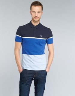 Clothing Men short-sleeved polo shirts Armani jeans MARAFOTA Blue