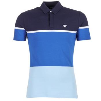Clothing Men short-sleeved polo shirts Armani jeans MARAFOTA Blue
