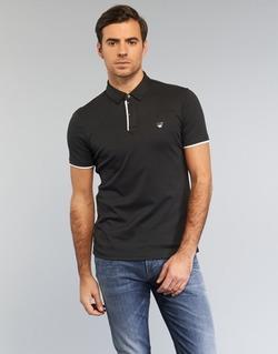 Clothing Men short-sleeved polo shirts Armani jeans MEDIFOLA Black