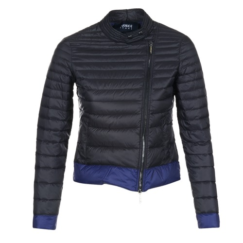 Clothing Women Duffel coats Armani jeans BEAUJADO Black / Blue