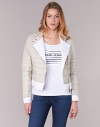Clothing Women Duffel coats Armani jeans BEAUJADO Beige / White
