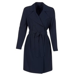 Clothing Women Trench coats Armani jeans HAVANOMA Blue