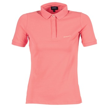 Clothing Women Short-sleeved polo shirts Armani jeans IMALORE Pink
