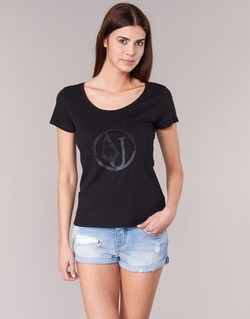 Clothing Women short-sleeved t-shirts Armani jeans LASSERO Black