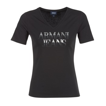 Clothing Women short-sleeved t-shirts Armani jeans JAGONA Black