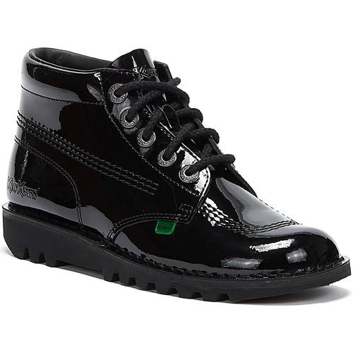 Shoes Women Mid boots Kickers Kick Hi Womens Black Patent Boots Black