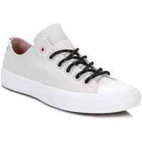 Shoes Low top trainers Converse All Star Chuck Taylor II Womens Mouse/White Shield Trainers Grey