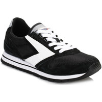 Shoes Women Low top trainers Brooks Brothers Womens Jet Black/White Chariot Trainers Black
