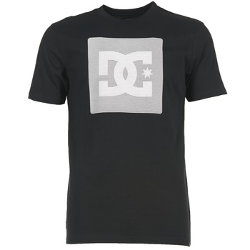 Clothing Men short-sleeved t-shirts DC Shoes VARIATION SS Black / Grey / White
