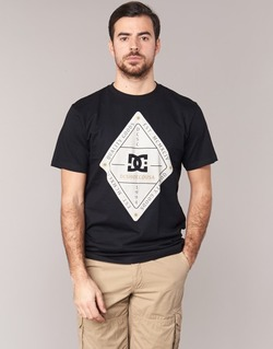 Clothing Men short-sleeved t-shirts DC Shoes LONG DAY SS Black