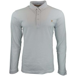 Clothing Men long-sleeved polo shirts Farah Merriweather LS Polo white