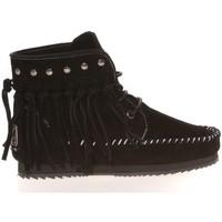 Shoes Women Loafers Ilario Ferucci Mocassin Renouee Noir Black