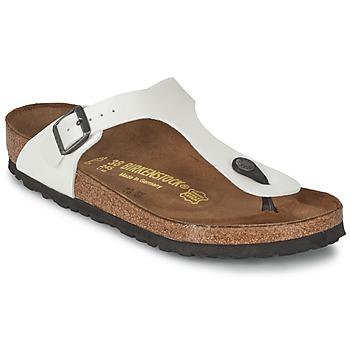 Shoes Women Flip flops Birkenstock GIZEH White / Mother-of-pearl